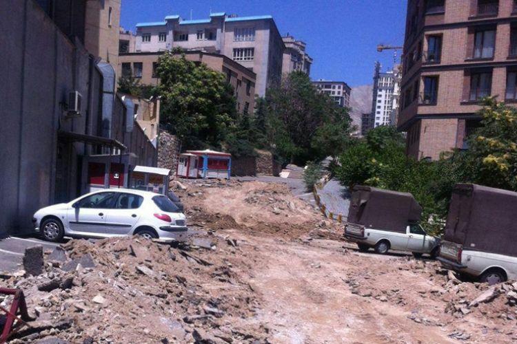 اتفاق عجیب در شمال پایتخت/ تخریب پارکینگ بیمارستان برای ساخت بازار میوه وترهبار!