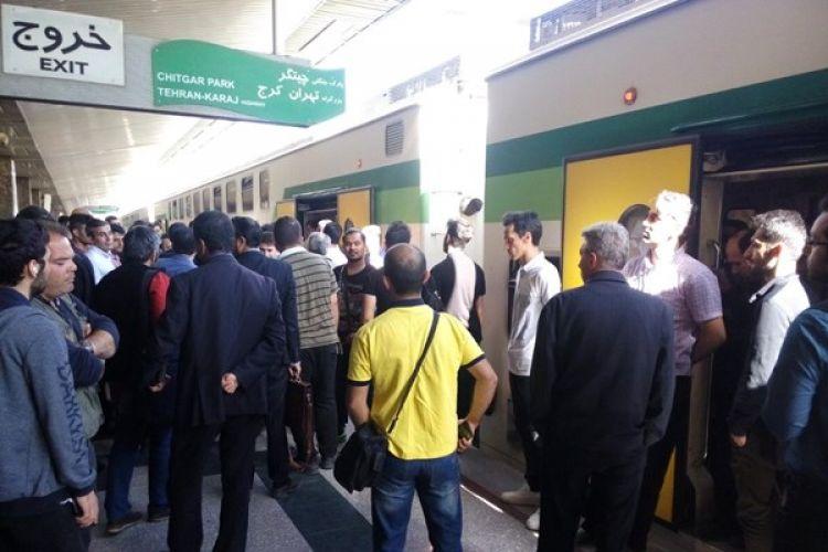 جزئیات توقف صبحگاهی خط متروی کرج به تهران و ازدحام مسافران در ایستگاه چیتگر