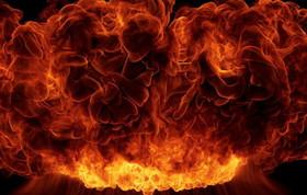 مهار شعله های آتش در رستوران برج بیژن