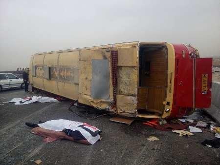 جزئیات واژگونی اتوبوس در خراسان رضوی با ٣٩ سرنشین