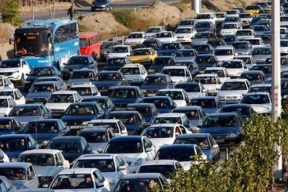 ترافیک سنگین در ورودی کرج - تهران