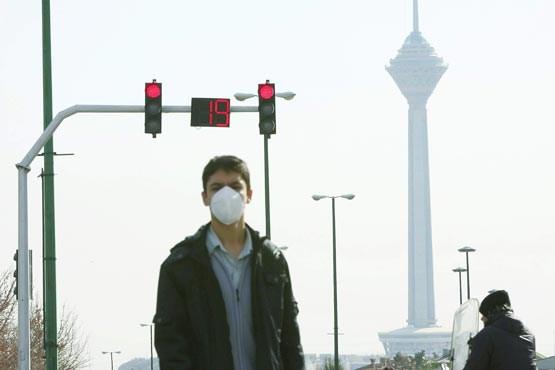 هوای تهران در شرایط ناسالم