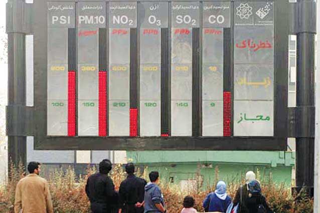 هوای تهران برای گروه های حساس «ناسالم» است