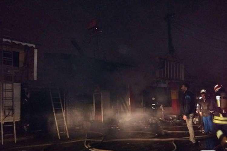 آتشسوزی در بازارچه «زرجوب» رشت