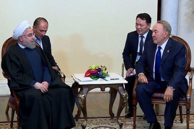 در دیدار روسای جمهور ایران و قزاقستان چه گذشت؟