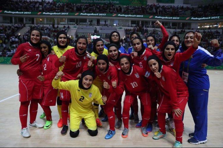 قهرمانی دختران شایسته فوتسال ایران در آسیا