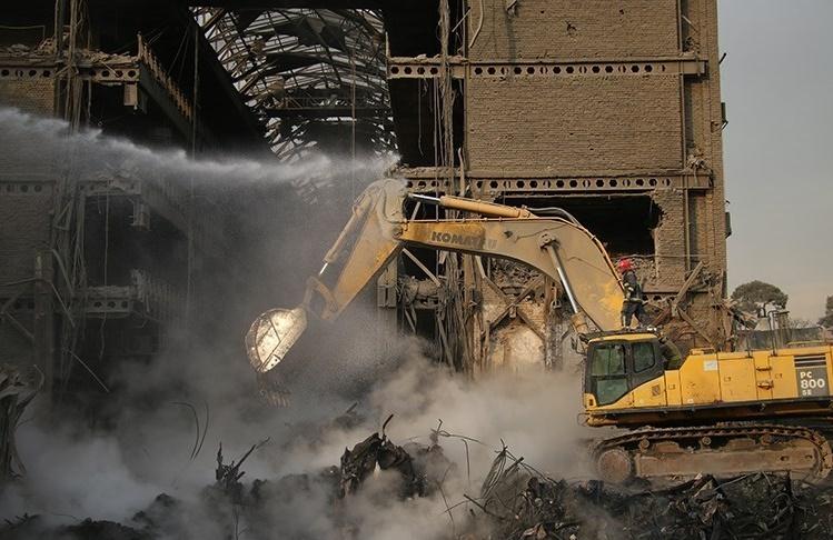 ریزش پلاسکو به علت عدم تحمل سازه فلزی در برابر حریق