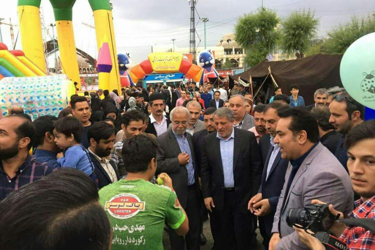بازدید رئیس و اعضای شورای شهر تهران از دهکده تفریحات ورزشی نمایشگاه کتاب