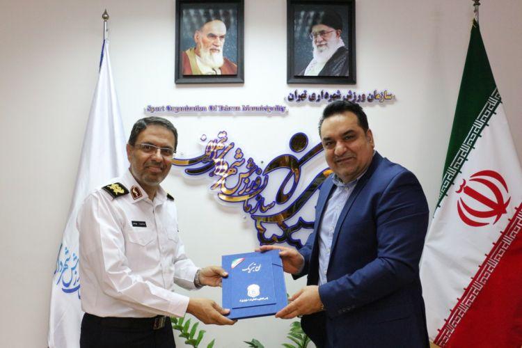 دیدارسرپرست سازمان ورزش شهرداری و رییس پلیس راهور تهران بزرگ