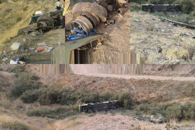 سقوط یک دستگاه اتوبوس بینشهری به داخل دره جاجرود/ 11 نفر کشته و 27 نفر مصدوم شدند