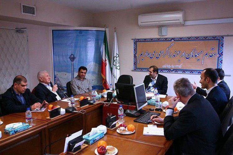 دیدار رئیس مرکز مطالعات و برنامه ریزی شهر تهران با هیات اتریشی