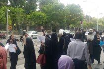گزارش فارس از تجمع اعتراضی کارکنان تعدیل شده شهرداری/ تعدیل خانم کارمند در مرخصی زایمان تا آقای دکتر یگان حفاظت!