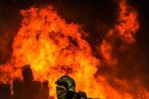جان باختن مسئول آتشنشانی و رئیس شورای شهر فولادشهر در مانور آتشنشانی+جزئیات