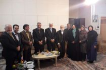 عیادت عارف و جمعی از اعضای شورای شهر تهران از عباس شیبانی